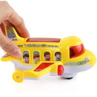 电动玩具汽车万向音乐飞机小孩0-1-3岁儿童宝宝男孩女孩早教 电动欢乐飞机【黄色】 送螺丝刀