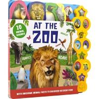 【首页抢券300-100】10 Animal Sounds At The Zoo 幼儿纸板发声书 动物园 英语启蒙 动物