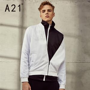 以纯A21秋装新品男装修身短装夹层外套青春学院夹克