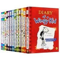 小屁孩日记13册合集 英文原版 Diary of a Wimpy Kid 美国初中小学生幽默漫画励志成长课外阅读书籍 进