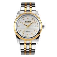 户外运动潮流时尚男士商务石英手表防水钢带简约个性水钻腕表