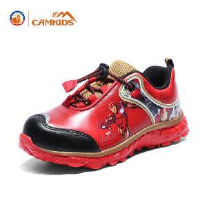 CAMKIDS 男童女童漫威款大童网布鞋儿童运动鞋