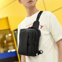 胸包男士韩版潮帆布单肩包斜挎包时尚潮流小背包斜跨运动休闲腰包