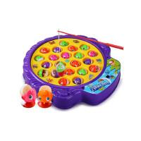 儿童小猫钓鱼玩具池小孩1-3岁2宝宝益智男孩女孩电动磁性套装周岁