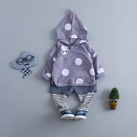 男童 女童婴儿衣服套装两件套宝宝春秋装0-1-2-3-4岁潮装