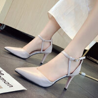 户外法式少女高跟鞋凉鞋女时尚女鞋尖头细跟仙女风配裙子的鞋