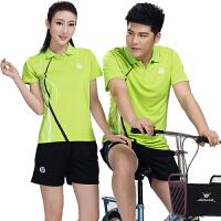 网球服套装男女 情侣羽毛球衣乒乓球T恤透气排汗比赛训练运动短袖