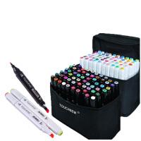 【部分地区包邮】马克笔套装TOUCH FIVE新5代36色-72色学生绘画彩色双头油性笔