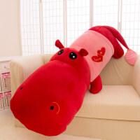长条河马抱枕玩偶毛绒玩具娃娃公仔可爱睡觉枕头送女生儿童节礼物