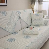 夏季全棉沙发垫四季布艺简约现代坐垫通用客厅沙发靠背巾套罩全盖