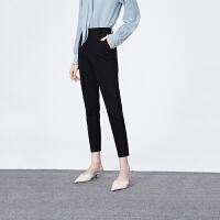 【超值一口价 到手价:198】LILY女装黑色修身小脚裤时尚显瘦通勤裤120329C5972