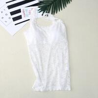 2018新款夏季白色蕾丝抹胸吊带小背心带胸垫裹胸女防走光内衣外穿打底衫薄 均码