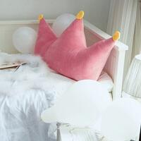 韩式立体皇冠抱枕床头靠背靠垫软包榻榻米靠枕枕头含芯可拆洗大号