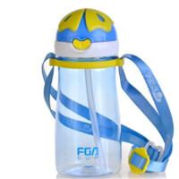 富光 飞乐儿童水壶 吸管壶塑料壶 防摔耐用 便携塑料水杯 FS1059-320