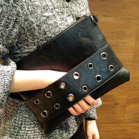 欧美复古手拿包女新款潮流时尚个性信封包休闲大容量手包