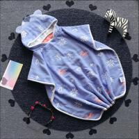 婴幼儿浴巾 纱布纯棉卡通带帽斗篷 宝宝浴袍睡衣 卡通