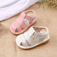 夏季款牛皮童鞋婴儿学步鞋2-3-5岁软底男女宝宝凉鞋