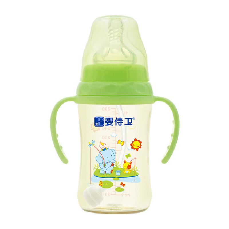 婴侍卫 宽口径PPSU奶瓶 (300毫升/10安士) (绿色)