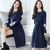 毛呢外套2018新款女装春季女式大衣春款中长生呢子衣女学季韩版