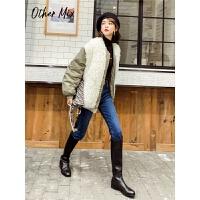 七格格女冬装2019新款加厚羊羔毛短款棉衣小个子韩版宽松外套