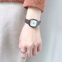 韩版简约方形气质森系复古学院风女学生石英手表