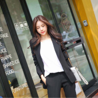西装套装2018春装韩版时尚小香风休闲显瘦西装外套九分裤两件套女