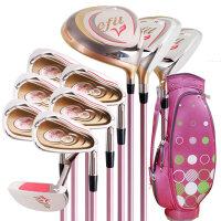 高尔夫球杆全套女士 套杆初中级套装 配粉色球包