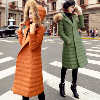 时尚中长款棉衣女冬装新款韩版修身气质显瘦轻薄外套