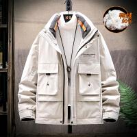 冬季外套2019年新款爆款加厚工装韩版男士帅气保暖短款羽绒服男潮