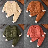 童装套装秋冬装居家服棉衣婴儿加棉两件套