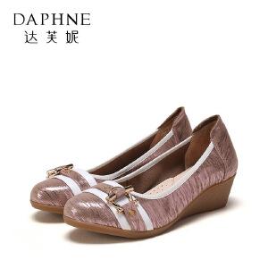 【9.20达芙妮超品2件2折】Daphne/达芙妮春秋圆头浅口单鞋休闲时尚女鞋