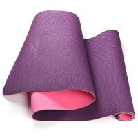 20180321053513945瑜伽垫 加长加宽加厚运动健身垫仰卧起坐平板支撑垫子瑜伽砖 紫色 TPE