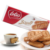 比利时进口lotus和情缤咖时焦糖饼干250g 酥性饼干休闲零食品批发