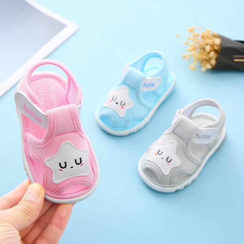 婴儿凉鞋男童0-1-2岁软底防滑幼儿夏季鞋学步女宝宝