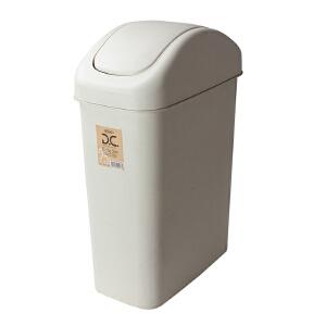 Lustroware 原装进口摇盖垃圾桶27.2L 白色L-2003/MW