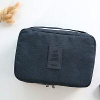 旅行便携式化妆包大容量防水出差旅游用品套装洗浴包收纳袋 大号深蓝 送2 个牙刷盒