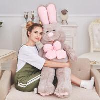 兔子毛绒玩具大玩偶女生超萌抱枕布娃娃公仔可爱睡觉抱着女孩抖音 站款 →高