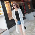 防晒衣女中长款沙滩2018夏新款雪纺开衫百搭白色披肩空调衫薄外套