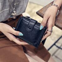户外女士钱包女短款韩版学生简约搭扣折叠钱包两折钱夹零钱包