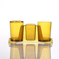日本塑料杯子刷牙杯刷牙杯子情侣套装漱口杯透明水杯塑料浴室收纳