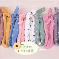 儿童丝巾秋冬季薄款纯棉防风男女童婴儿小童宝三角方口水纱布围巾