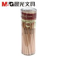 晨光文具原木铅笔AWP30401儿童六角形HB优品可削木杆铅笔50支桶装