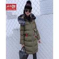 2017女童冬季新款童装韩版时尚长款中大童加厚保暖棉衣外套 cw9223