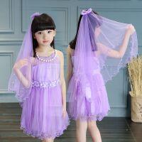 童装夏装女童连衣裙8小女孩夏季纱裙9儿童公主裙舞蹈裙子