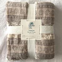 家纺冬季盖被 法兰绒毛毯单人毯印花办公室午睡毯珊瑚绒床单盖毯 130cmX180cm