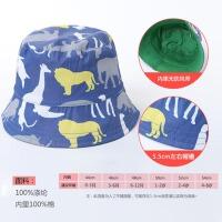 婴儿遮阳帽春夏男宝宝小恐龙儿童盆帽渔夫帽0-1-2-3岁