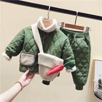 儿童套装棉衣冬装小童男女童保暖宝宝两件套