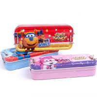 晨光学生文具盒 92389三层笔盒 铁笔盒 卡通飞侠文具盒 单个 颜色随机