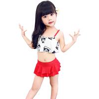 儿童泳衣女童游泳衣中大童宝宝女孩幼儿连体裙韩国温泉泳装2-岁 白色