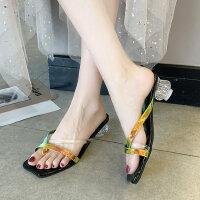 户外休闲时尚潮鞋女士拖鞋舒适气质中跟鞋百搭女鞋